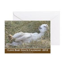 2012 I Love Baby Goats Calendar Greeting Card
