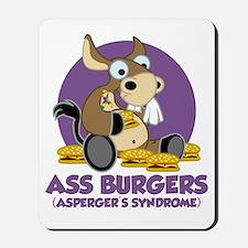 Aspergers-Donkey-blk Mousepad