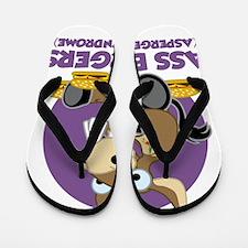 Aspergers-Donkey-blk Flip Flops