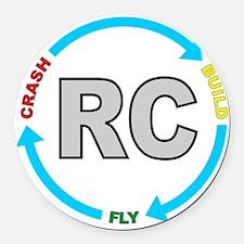 build crash fly Round Car Magnet