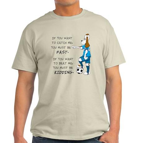 SoccerDogKIdding LarryCaps Light T-Shirt