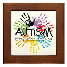 Autism-Handprint2011 Framed Tile