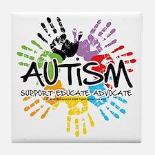 Autism-Handprint2011 Tile Coaster