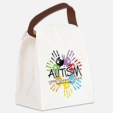 Autism-Handprint2011 Canvas Lunch Bag