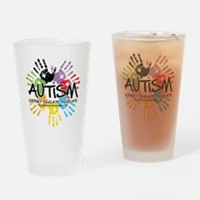 Autism-Handprint2011 Drinking Glass