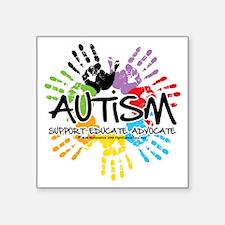 "Autism-Handprint2011 Square Sticker 3"" x 3"""