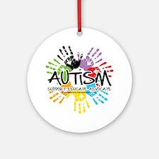 Autism-Handprint2011 Round Ornament