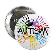 """Autism-Handprint2011 2.25"""" Button"""