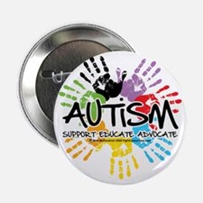 "Autism-Handprint2011 2.25"" Button"