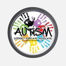 Autism-Handprint2011 Wall Clock