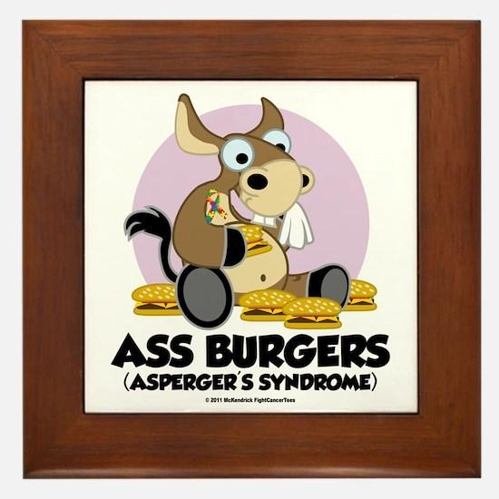 Aspergers-Donkey Framed Tile