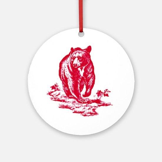 pinkbear Round Ornament