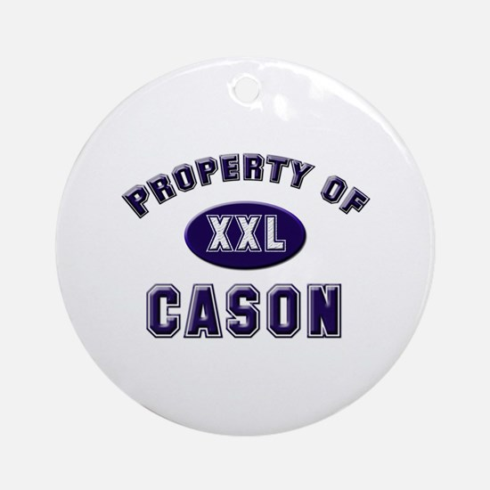 Property of cason Ornament (Round)