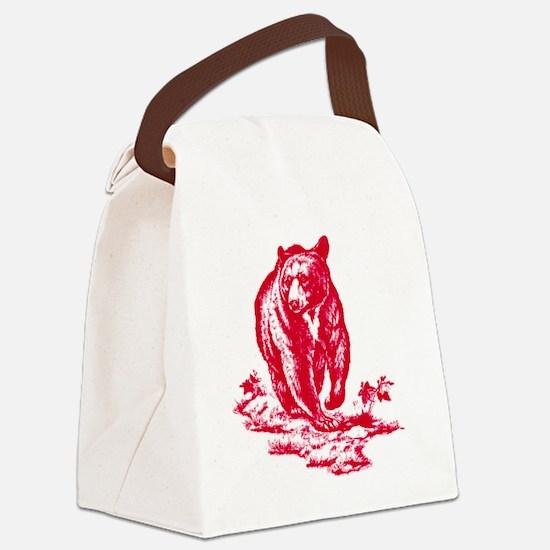 pinkbear Canvas Lunch Bag