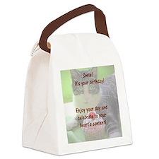 Gershwin bdaycardinside Canvas Lunch Bag