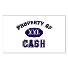 Property of cash Rectangle Decal