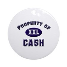 Property of cash Ornament (Round)