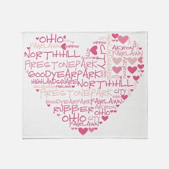 HeartWordle Throw Blanket