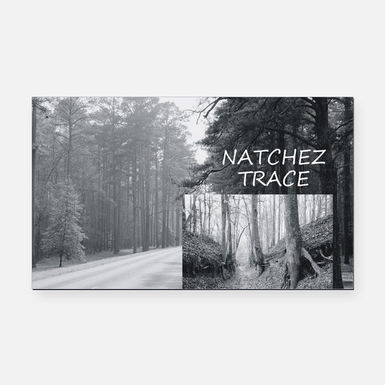 natcheztrace1 Rectangle Car Magnet