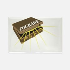 Suitcase of Courage Rectangle Magnet