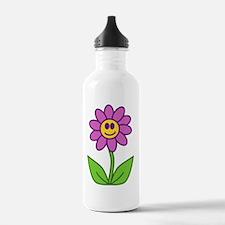 Cute Purple Flower Water Bottle