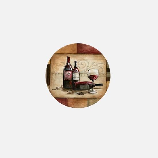 wine and chocolate 2 Mini Button