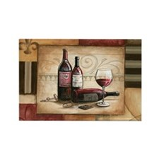 wine and chocolate 2 Rectangle Magnet