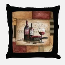 wine and chocolate 2 Throw Pillow
