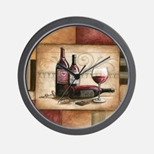 wine and chocolate 2 Wall Clock