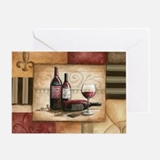 wine and chocolate 2 Greeting Card