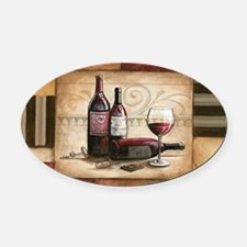 wine and chocolate 2 Oval Car Magnet