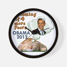 obama-cat Wall Clock