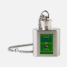 Thank You To Our Soccer Coach Greet Flask Necklace