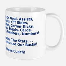 Thank You Our Soccer Coach Greeting Car Mug