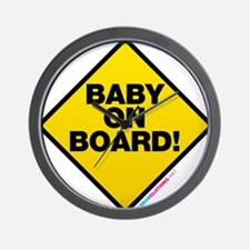 Baby On Board Wall Clock