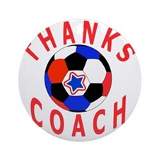 Soccer Coach Thank You Unique Gifts Round Ornament