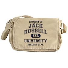 Jack-Russell-University Messenger Bag