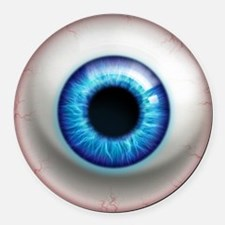 16x16_theeye_electric Round Car Magnet