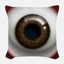16x16_theeye_browndark Woven Throw Pillow