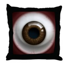 16x16_theeye_browndark Throw Pillow