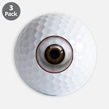 16x16_theeye_browndark Golf Ball