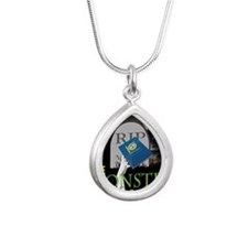 undead Silver Teardrop Necklace