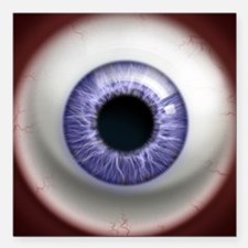 "16x16_theeye_lavender Square Car Magnet 3"" x 3"""