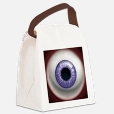 16x16_theeye_lavender Canvas Lunch Bag