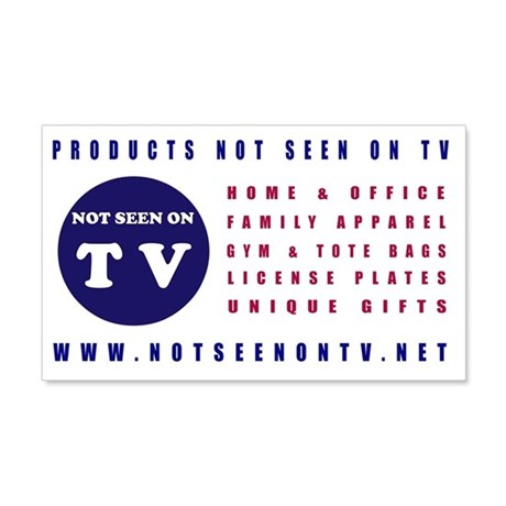 NOT SEEN ON TV 20x12 Wall Decal