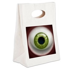 16x16_theeye_green Canvas Lunch Tote