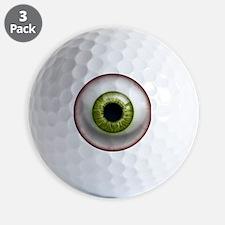16x16_theeye_green Golf Ball