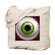 16x16_theeye_green Tote Bag