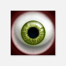 "16x16_theeye_green Square Sticker 3"" x 3"""