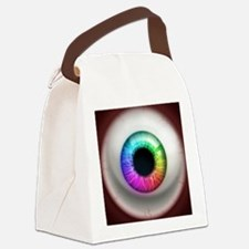 16x16_theeye_rainbow Canvas Lunch Bag